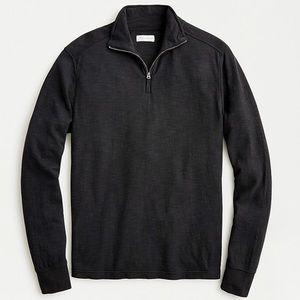 J crew men's double half zip black pullover